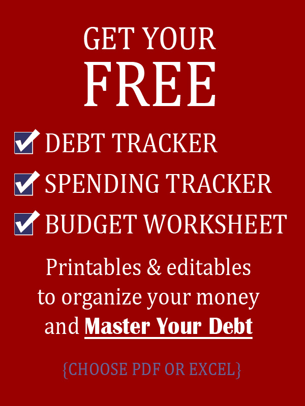 Free Awesome monthly budget worksheet, plus spending tracker and debt tracker! Excel and PDF versions to edit or print.